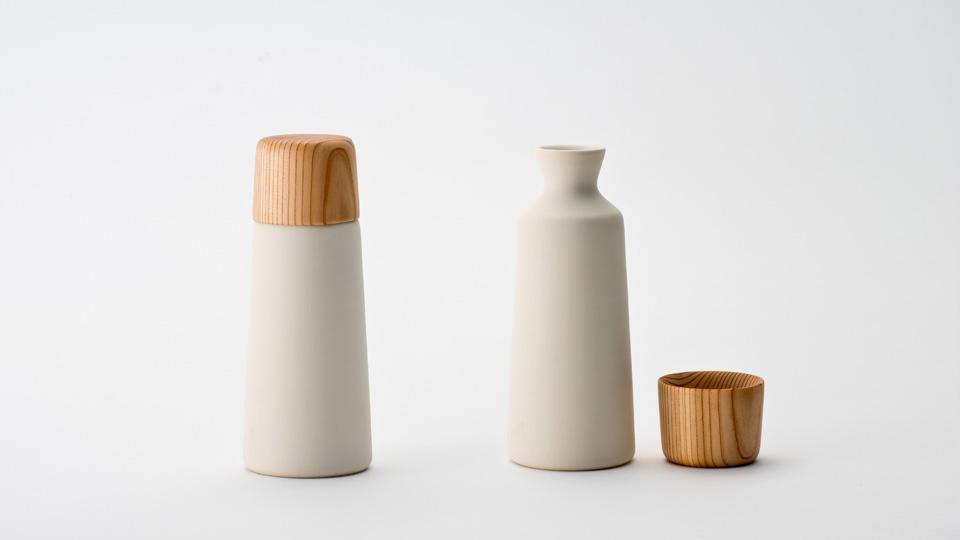 YOSHINO sake cup and bottle プロダクトデザイナー 小池和也 kazuya koike doogdesign